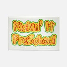Kickin' It Pre School Rectangle Magnet