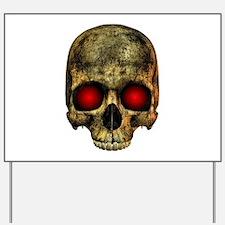 Evil Skull Yard Sign