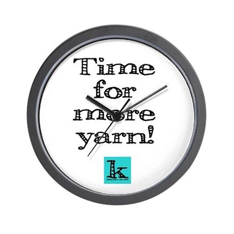 Time for More Yarn Wall Clock