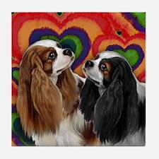 CAVALIER SPANIEL DOGS LOVE VALENTINE Tile Coaster