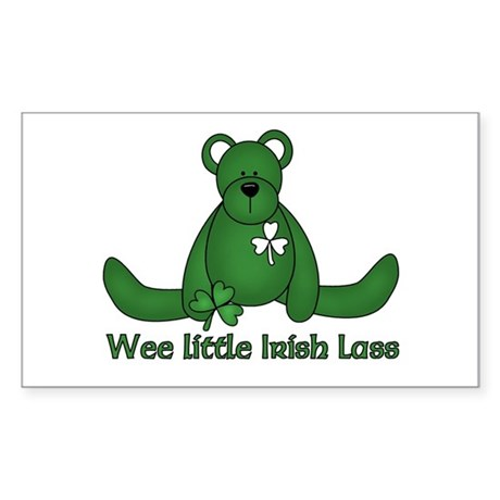 Wee little Irish Lass Rectangle Sticker