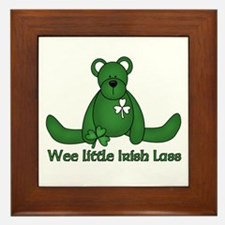Wee little Irish Lass Framed Tile
