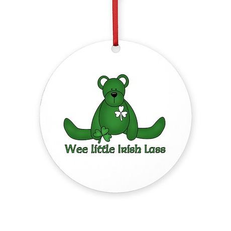 Wee little Irish Lass Ornament (Round)