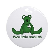Wee little Irish Lad Ornament (Round)