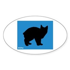 Manx iPet Oval Decal