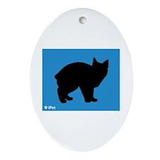 Manx iPet Oval Ornament