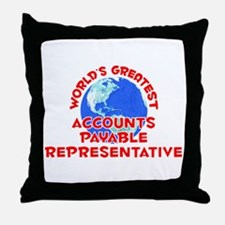 World's Greatest Accou.. (F) Throw Pillow
