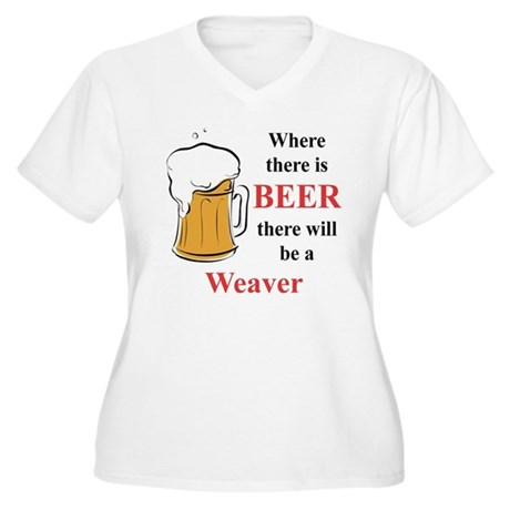 Weaver Women's Plus Size V-Neck T-Shirt