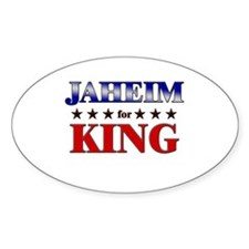 JAHEIM for king Oval Stickers