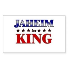 JAHEIM for king Rectangle Decal