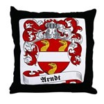 Arndt Family Crest Throw Pillow