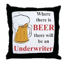Underwriter Throw Pillow