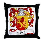 Asten Family Crest Throw Pillow
