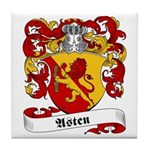 Asten Family Crest Tile Coaster