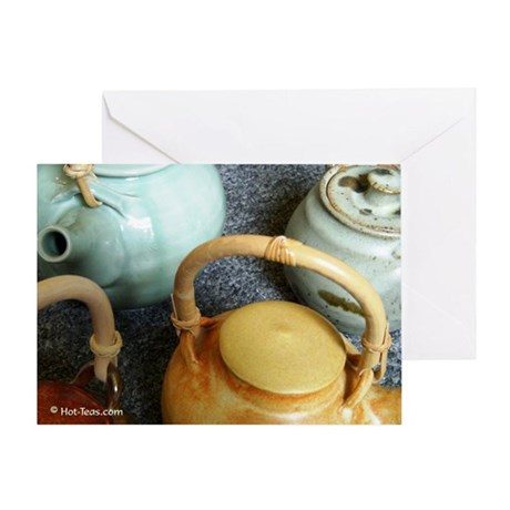 Teapots Note Card