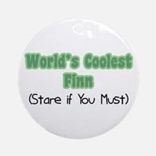 World's Coolest Finn Ornament (Round)