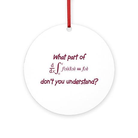 Calculus Equation Ornament (Round)