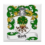 Asch Family Crest Tile Coaster