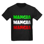Mangia Mangia Mangia Kids Dark T-Shirt