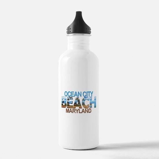 Summer ocean city- mar Water Bottle