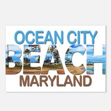 Summer ocean city- maryla Postcards (Package of 8)