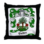 Bader Family Crest Throw Pillow