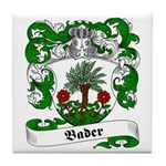 Bader Family Crest Tile Coaster