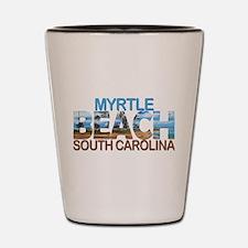 Summer myrtle beach- south carolina Shot Glass