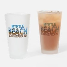 Summer myrtle beach- south carolina Drinking Glass