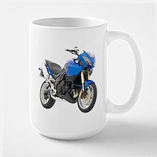 Triumph Tiger Motorbike Blue Mug