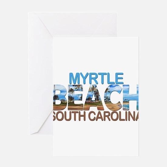 Summer myrtle beach- south carolina Greeting Cards