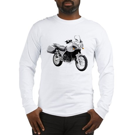 Triumph Tiger Motorbike Gray Long Sleeve T-Shirt