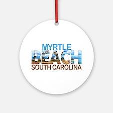 Summer myrtle beach- south carolina Round Ornament