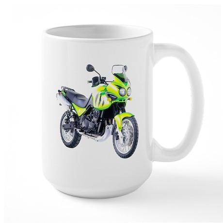Triumph Tiger Motorbike Light Green Large Mug