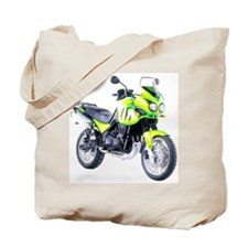 Triumph Tiger Motorbike Light Green Tote Bag