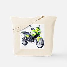 Triumph Tiger Motorbike Light Green Tote Bag