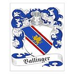 Ballinger Family Crest Small Poster