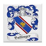 Ballinger Family Crest Tile Coaster