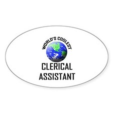 World's Coolest CLERICAL ASSISTANT Oval Decal