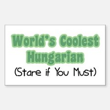 World's Coolest Hungarian Rectangle Decal