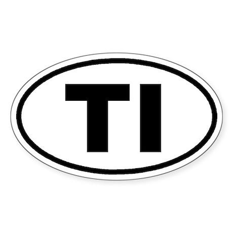 TI Euro Oval Sticker