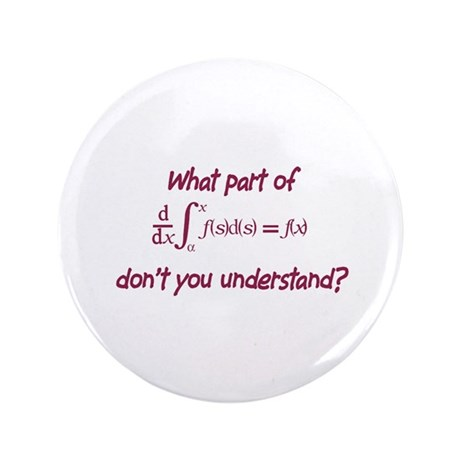 """Calculus Equation 3.5"""" Button (100 pack)"""