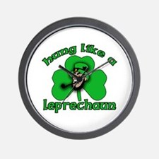 Hung Like a Leprechaun Wall Clock