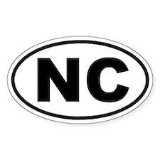 NC North Carolina Euro Oval Stickers