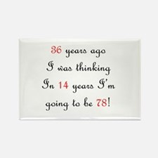 100th birthday math Rectangle Magnet