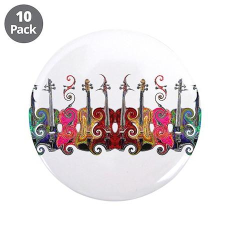 """ViolinSwirls 3.5"""" Button (10 pack)"""