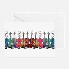 ViolinSwirls Greeting Card