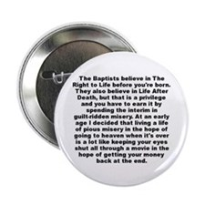 """Funny A whitney brown 2.25"""" Button (100 pack)"""