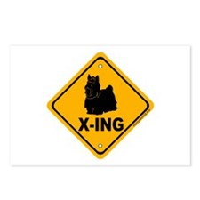 Yorkie X-ing Postcards (Package of 8)