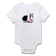 Black and White Easter Bunny Infant Bodysuit